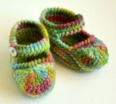 Multicoloured booties